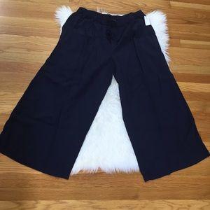 Gap Linen Navy Wide Leg Pants